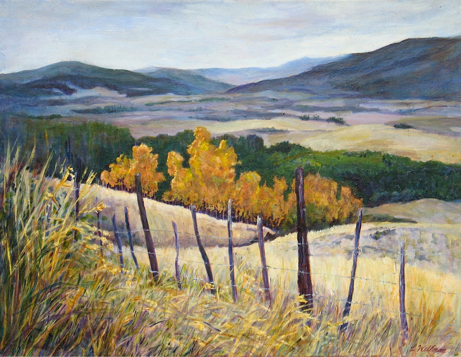 Autumn - Nicola Valley by Loraine Wellman