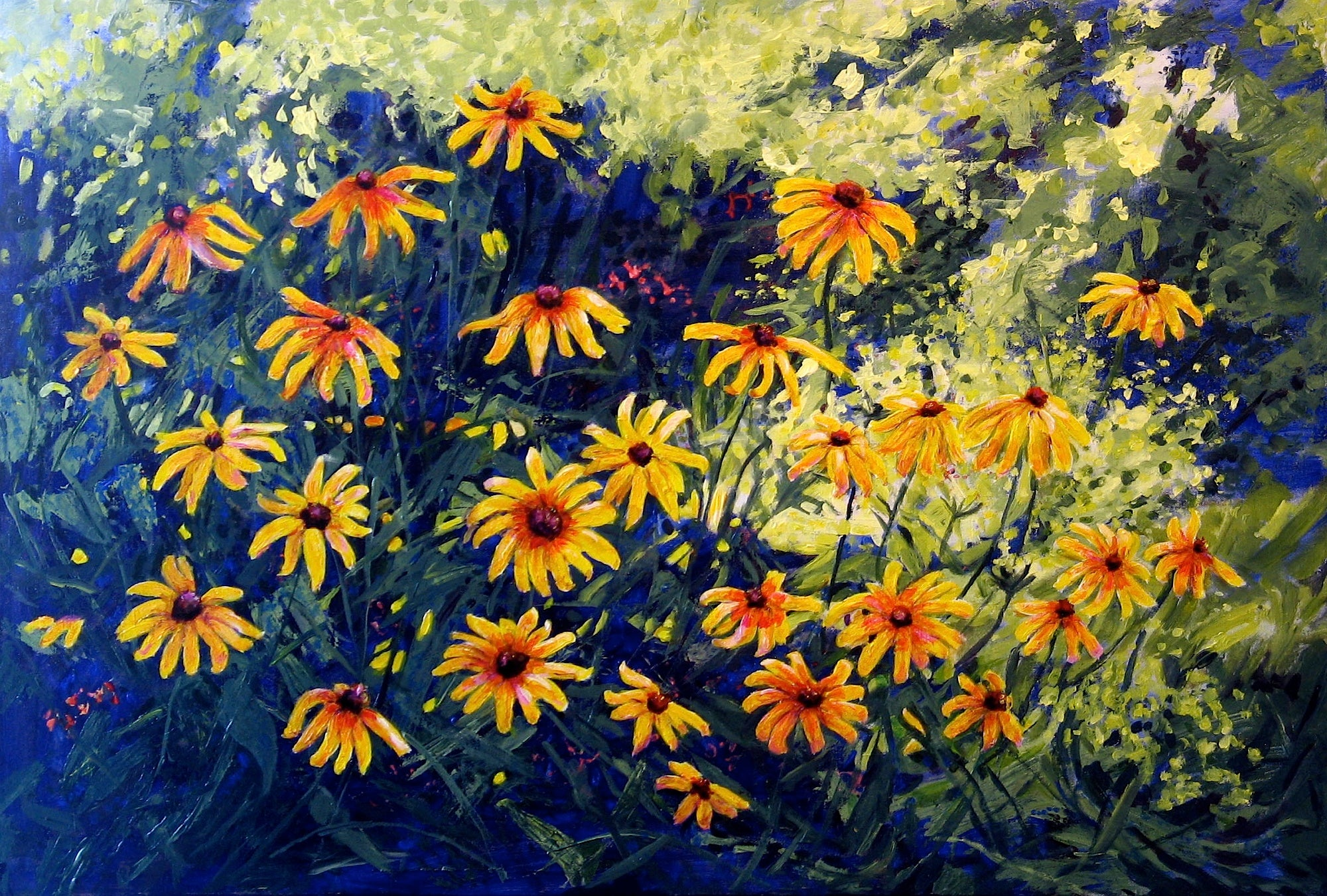 Rudbeckias by Loraine Wellman
