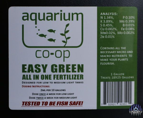 Easy Green and Easy Green Nano Fertilizer By Aquarium Co-Op: Product