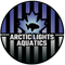 Arctic Lights Aquatics Logo In Blue and Grey