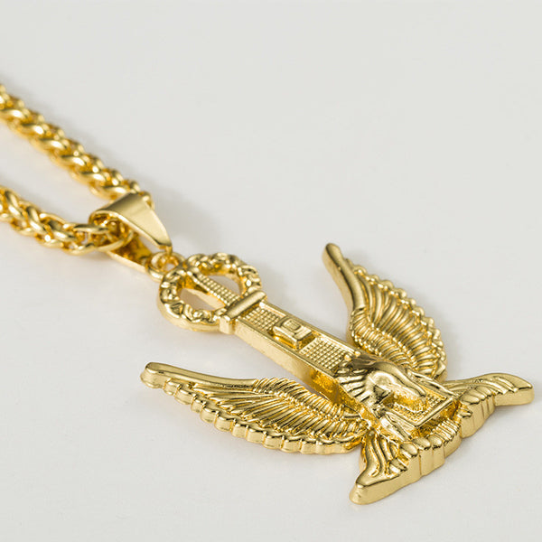 Large 18K Gold King Eagle Pendant