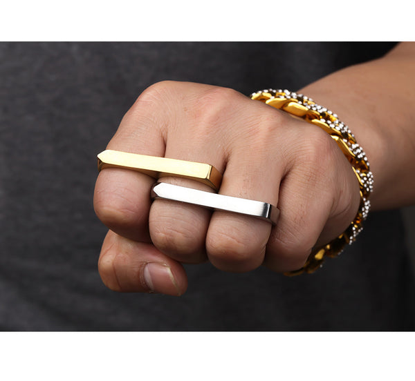 18K Two Fingers Double Ring