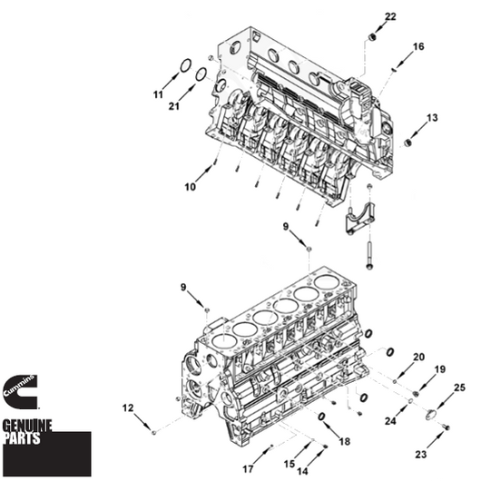 Cylinder Block Hardware Kit | 5.9L 24v Cummins | Dodge 98-02