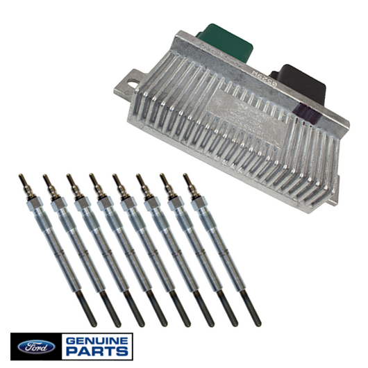 Glow Plug & Controller Kit | 2000-2003 Ford 7.3L Powerstroke