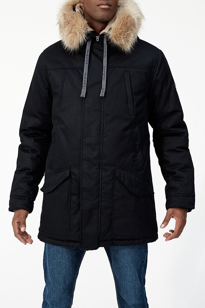 512445895606 HoodLamb Men s Nordic Parka - Black – Traverse Hemp Company