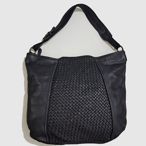 Woven Leather Hobo / Crossbody