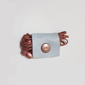 Set of Two Soft Leather Headphone Holder / Cable Organiser Personalised & Handcrafted