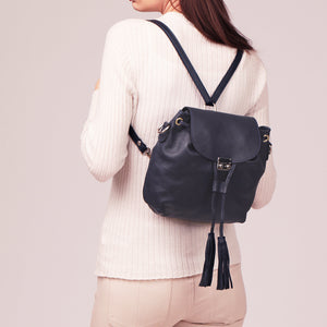 CLEARANCE One Left - Convertible Leather Backpack / Cross-Body