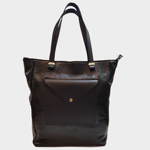 CLEARANCE One Left - Crinkle Patent Leather Tote