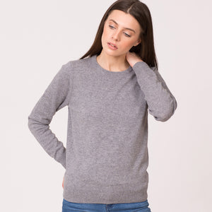 Pure Cashmere Crew Neck Sweater grey