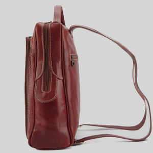 Unisex Smooth Leather Backpack