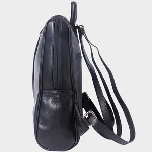 leather backpack Italian black brown
