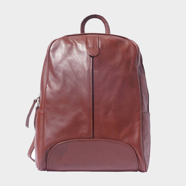ladies backpack smooth leather made in Italy