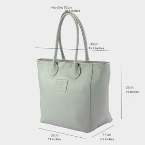 CLEARANCE One Left - The Trapeze Leather Tote - Medium