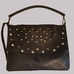 The Classic Messenger Bag With Studs