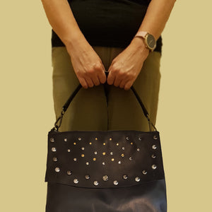CLEARANCE One Left - Messenger Bag With Studs