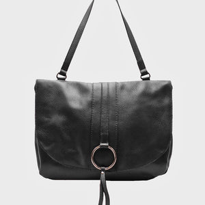 SALE The Messenger Bag with Metal Ring