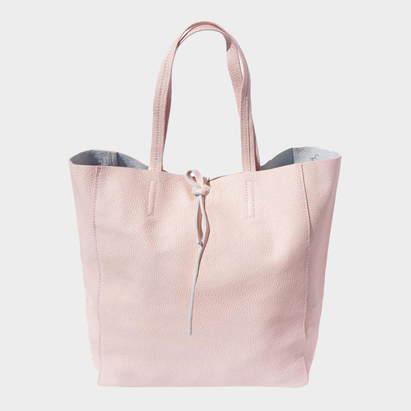 womens tote bag genuine Italian leather pink