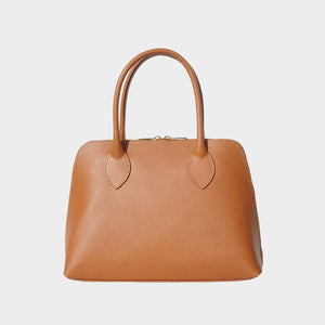 Julia Saffiano Leather Satchel - Medium