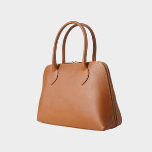 CLEARANCE SALE Julia Saffiano Bowling Leather Beg - Medium