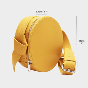 Round Cross-Body with Wide Strap