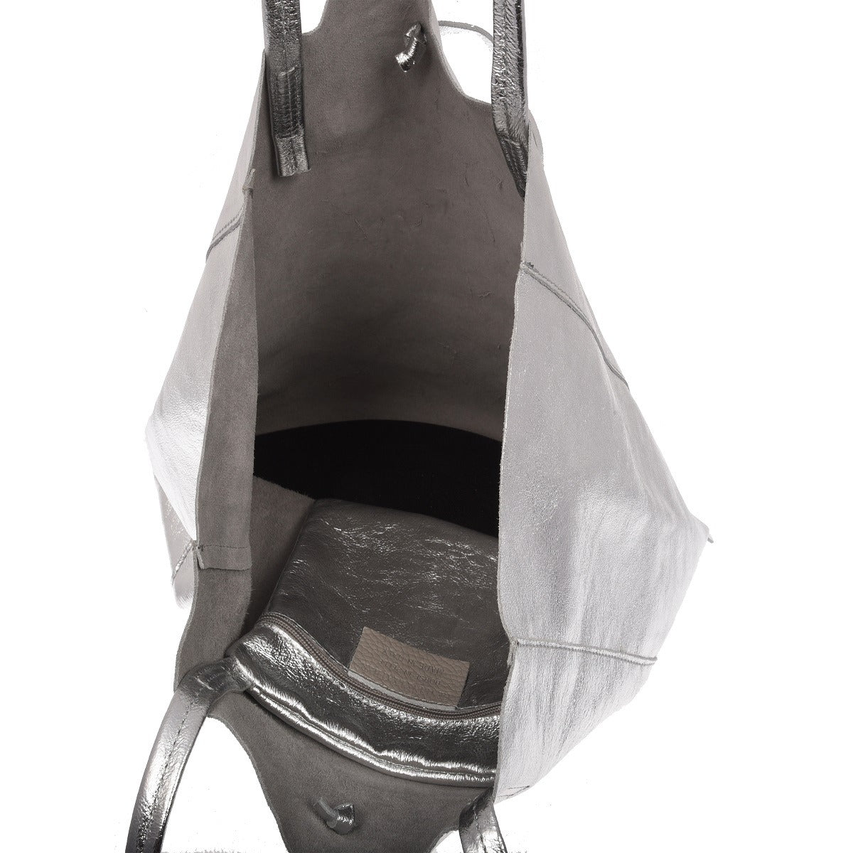 The Silver Ena Leather Tote