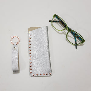 Set of Glasses Case and Keyring - Personalised and Handcrafted