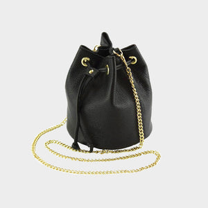 bucket bag gold shoulder chain