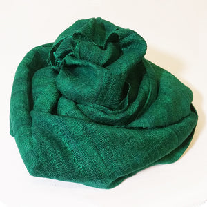 silk scarf green vietnam raw silk