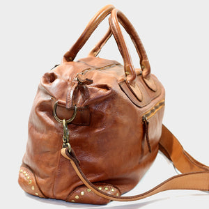 Leather Weekender / Hand Luggage Bag
