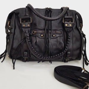 Distressed Leather Handbag / Shoulder Bag
