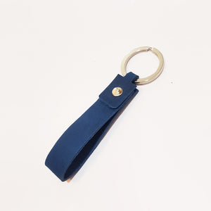 Looped Leather Keyring in Purple, Green, Blue or Burgundy - Personalised & Handcrafted