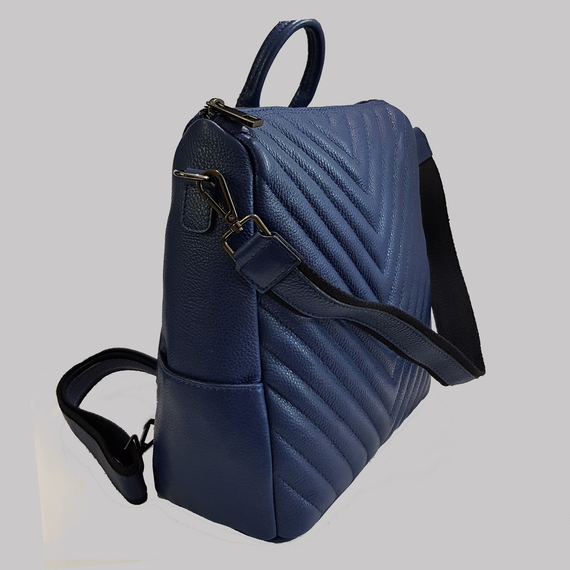 SALE Quilted Convertible Backpack / Shoulder Bag / Top Handle Bag