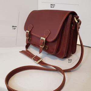 Small Leather Messenger / Crossbody Bag