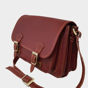 CLEARANCE One Left - Structured Leather Messenger / Crossbody