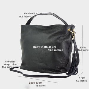 The Large Tassel Hobo / Crossbody Bag
