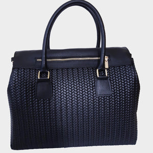 The Power Satchel Basket Weave Embossed