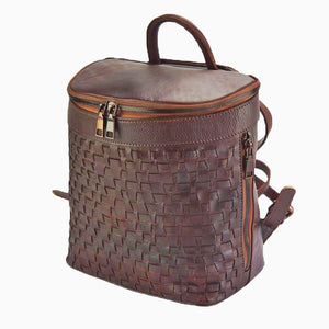CLEARANCE SALE Convertible Backpack Italian Woven Leather
