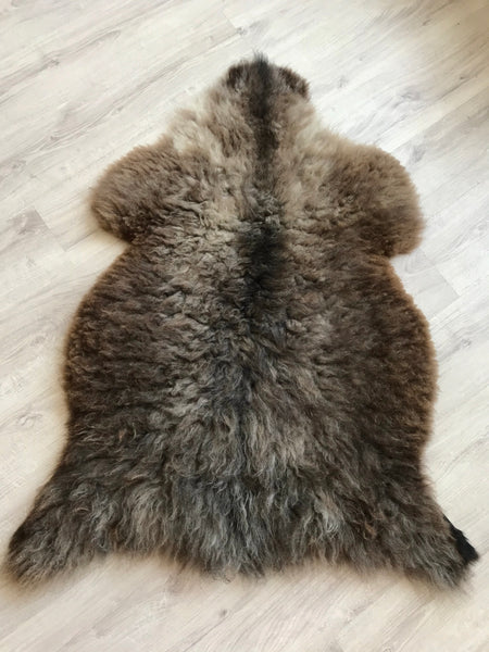 Plush Fluffy Mixed Brown Sheepskin