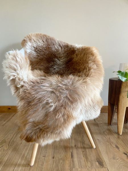 Auburn Grey and Cream Sheepskin
