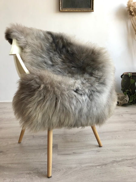 Mixed Grey and Brown Extra Soft Sheepskin