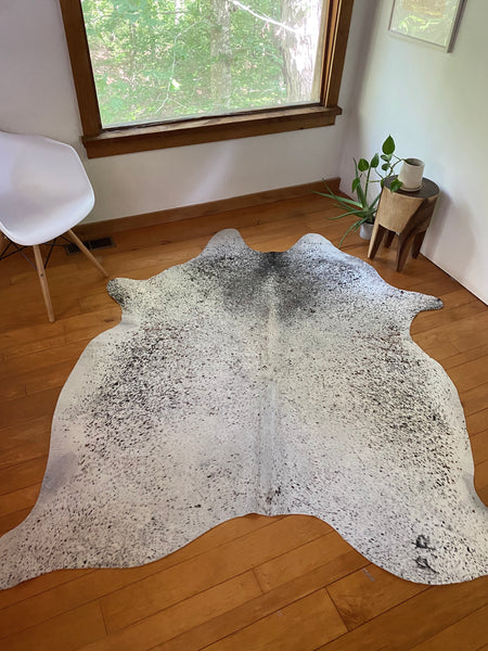 Natural Cowhide Speckled White #1
