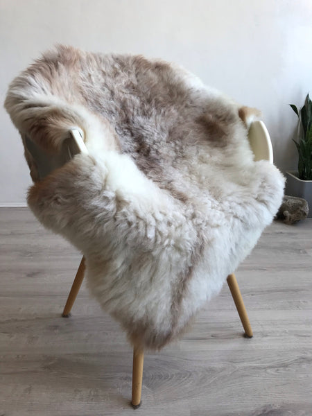 White and Rosey Beige Sheepskin