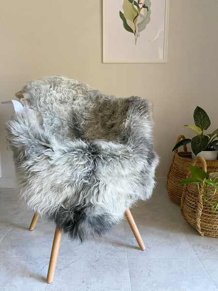 Silky Grey Textured Sheepskin