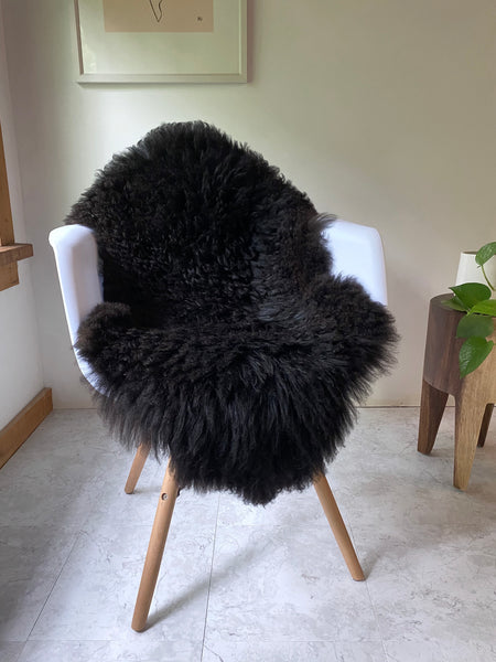 Shinny Black Sheepskin (So Soft)
