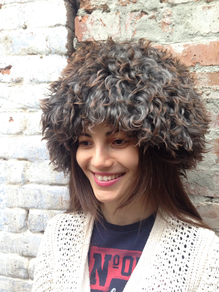 Sheepskin Papaya Hat in Gray