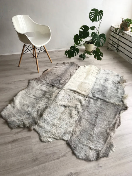 Sexto (6) Sheared Sheepskin Rug in Grey