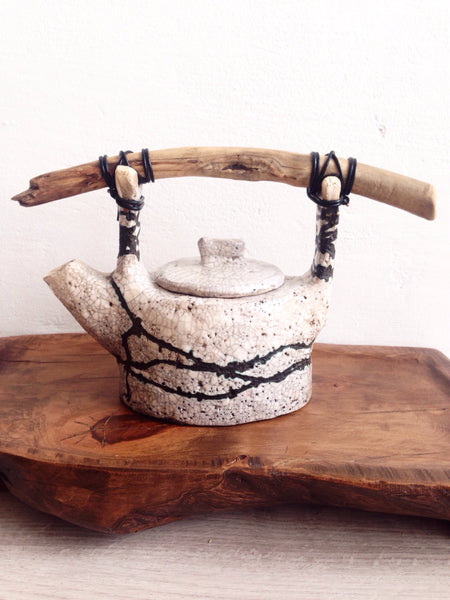 From the Sea: Driftwood Handle Teapot