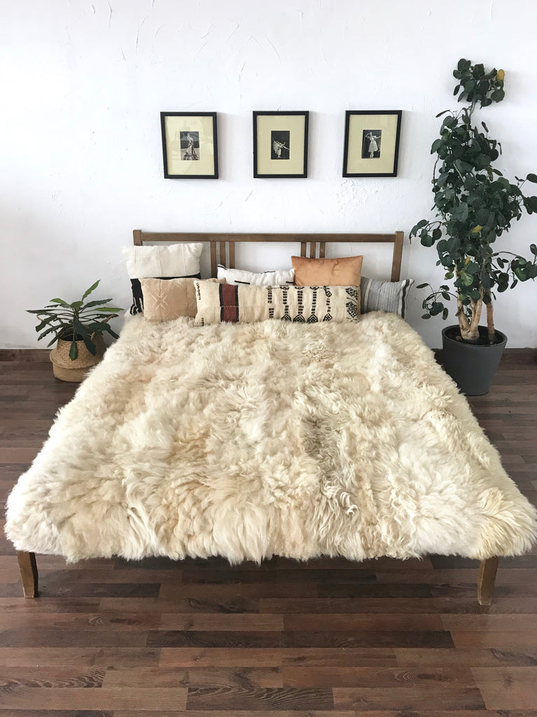 Natural Sheepskin Blanket