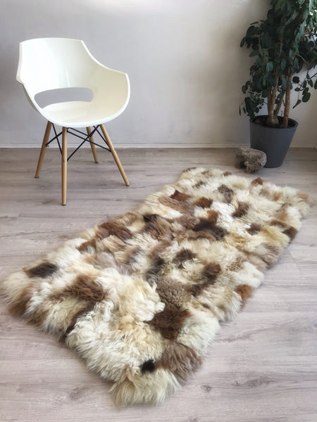 quilted sheepskin rug
